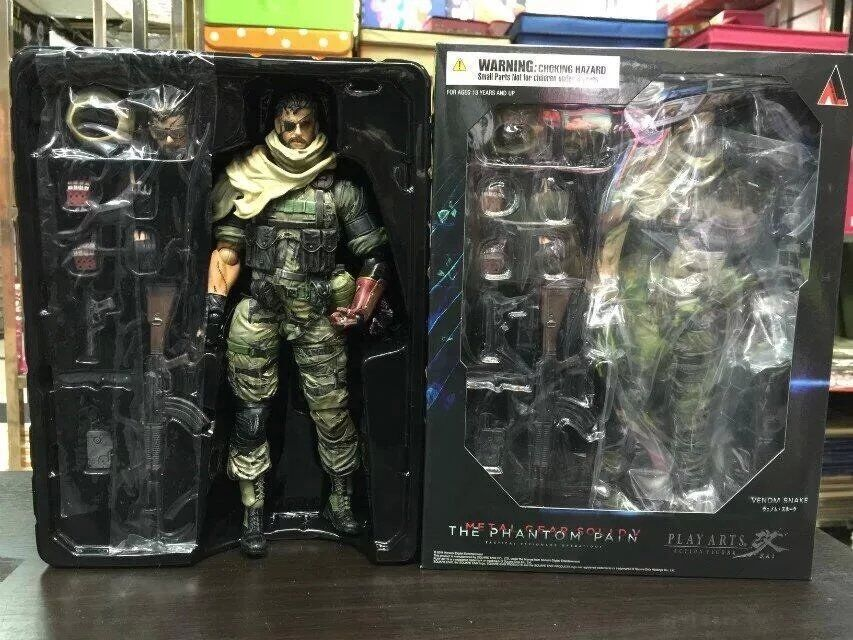 Play Arts Kai Solidus Snake Metal Gear Solid GROUND ZEROES PA 33cm PVC Action Figure Doll Toys Kids Gift Brinquedos(China (Mainland))