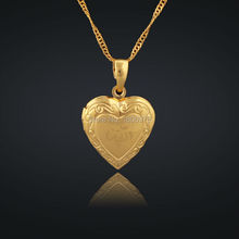 Hot Sell 18K Gold Plated Muslim heart allah Book Pendant Necklace With Chain Necklaces &pendant Jewelry For Women(China (Mainland))