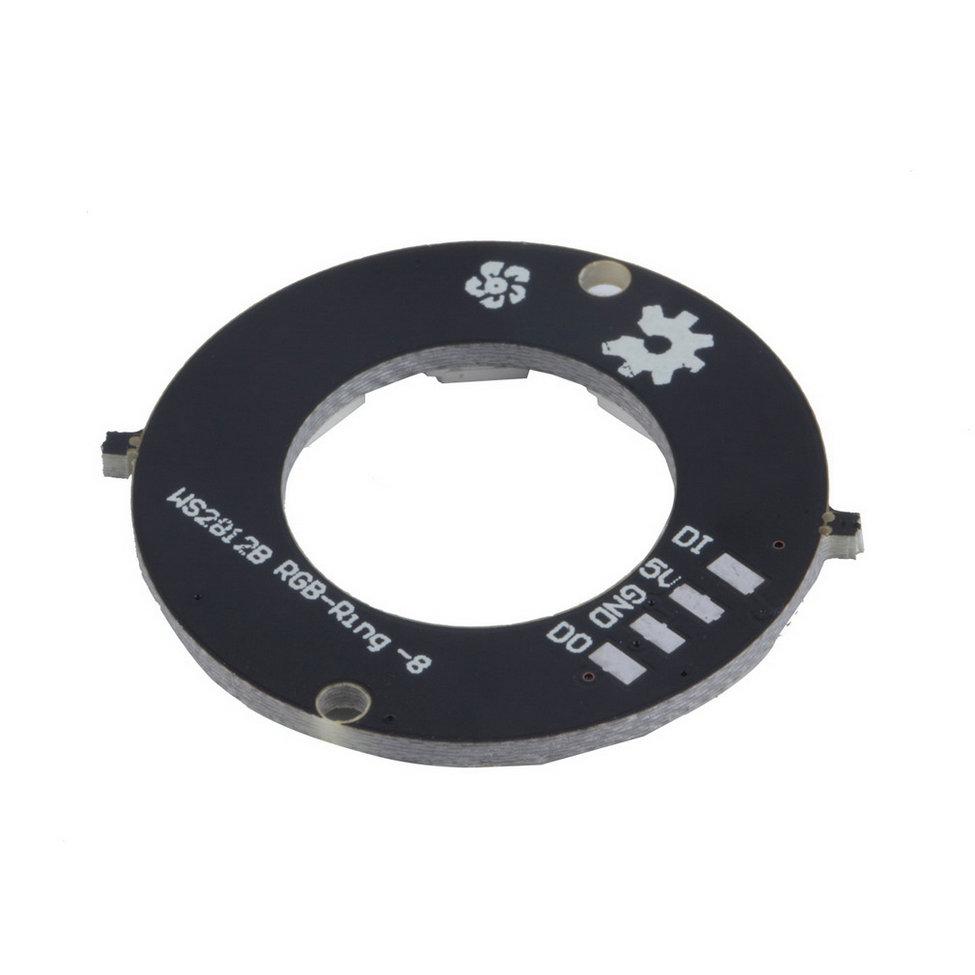 2016 new WS2812 8-Bit 5050 RGB LED Lamp Panel Round Ring LED Driver Development Board black free shipping<br><br>Aliexpress