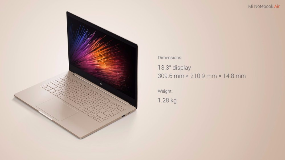 2016 New Xiaomi Air 13 Laptop Windows 10 13.3 inch IPS Screen Intel Core i5-6200u Dual Core 2.3GHz 8GB RAM 256GB SSD In Stock