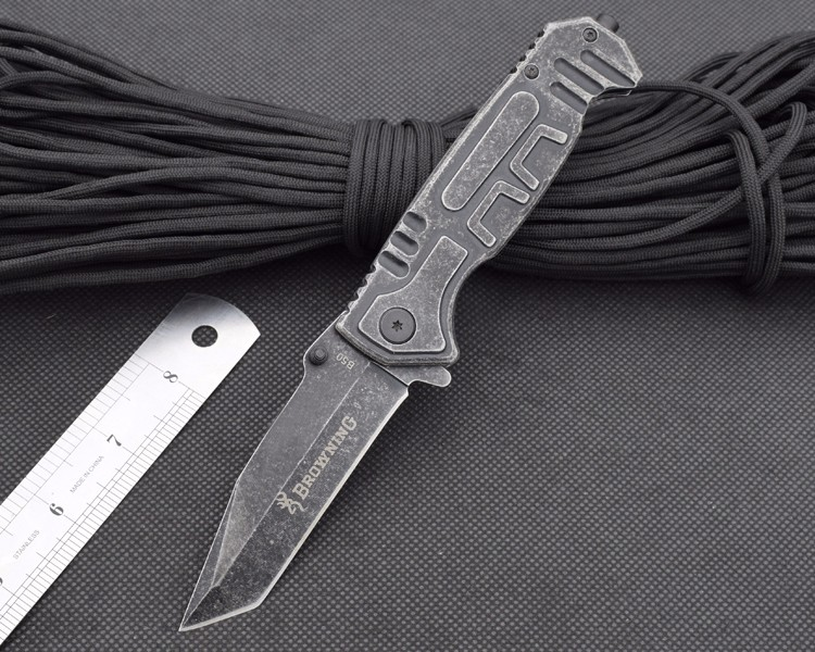 Buy New BROWNING 5CR13MOV Blade Folding Knife Pocket Survival Knifes Hunting Tactical Knives Camping Outdoor EDC Tools bw1 cheap