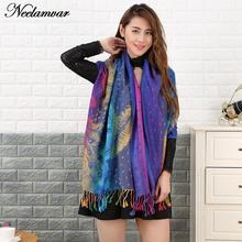 Autumn and Winter new designs fringed scarf women fashion national style pashmina peacock feather scarves big size shawl echarpe(China (Mainland))