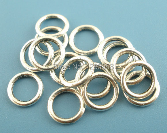 Free Shipping! 300PCs Silver Tone Soldered Closed Jump Ring 8mm Dia.Findings E03039(China (Mainland))