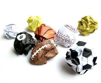 Free Shipping 3Pieces Playmore Notebook Paper Printed With Sports Balls(China (Mainland))