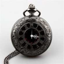 Vintage Steampunk Quartz Necklace Pendant Pocket Watch