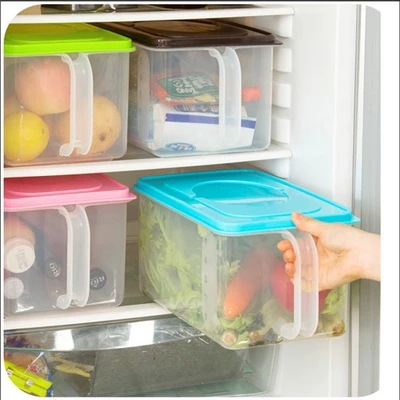 YoHere kitchen household creative plastic refrigerator storage container with lid candy color jewelry box office and food(China (Mainland))