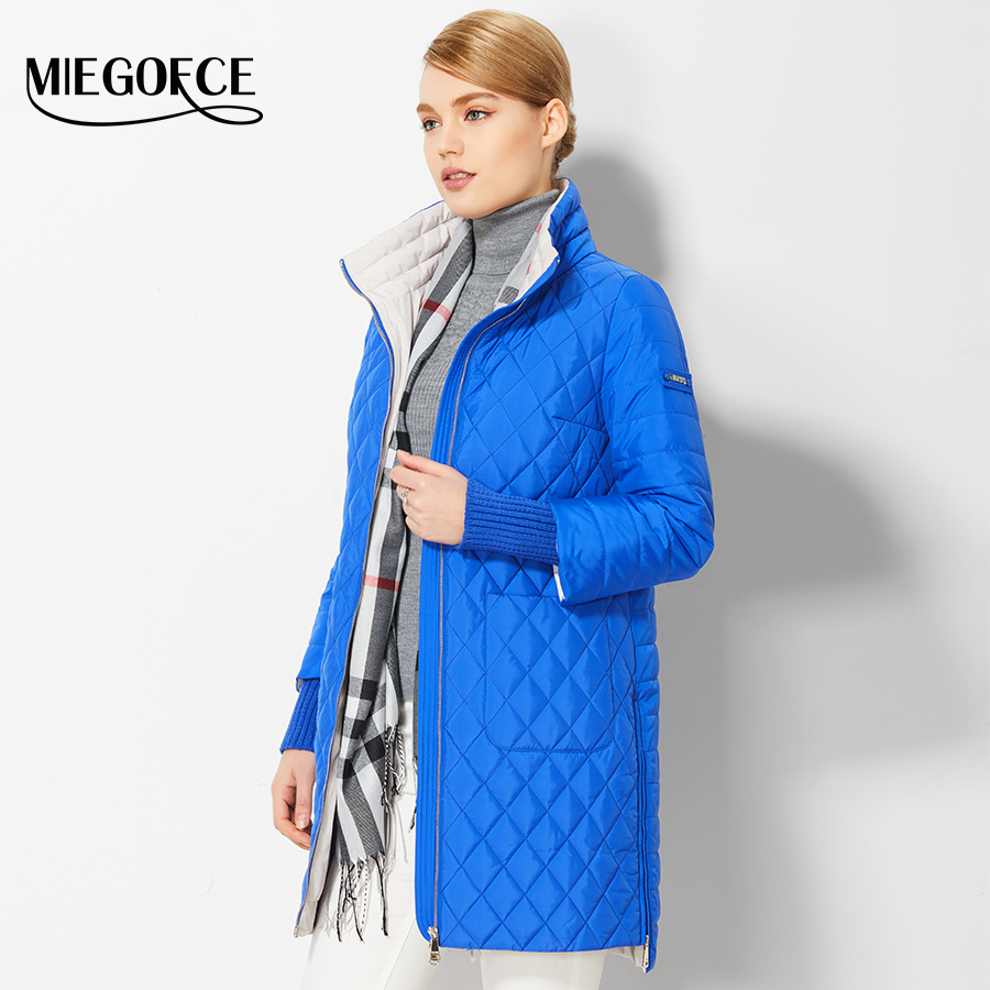 2017 Women's Coat Spring Autumn Women's Fashion Windproof Parkas Female Spring Jacket With Scarf New Design Hot Sale MIEGOFCE(China (Mainland))