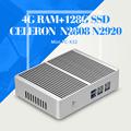 Mini pc computer for office N2808 N2920 Dual core 4G RAM 128G SSD WIFI Desktop computer
