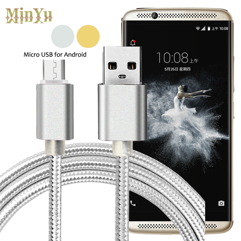 Micro USB 2.0 Data Sync & Fast Charging Cable ZTE Blade A1 C880U / A2 Prestige Axon Elite Lux V6 S6 V7  -  Shenzhen MinYu E-Commerce Co.,LTD store