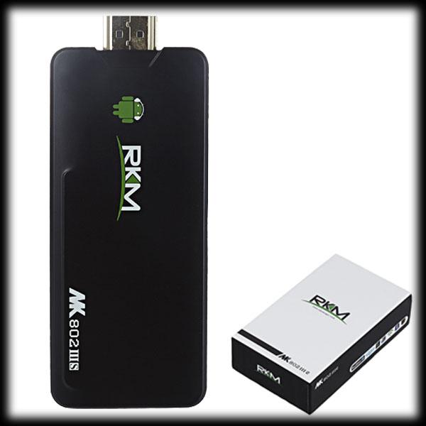 by dhl or ems 10pcs Orginal RKM Dual Core HDMI Mini PC MK802 IIIS Bluetooth RK3066 Cortex A9 8GB ROM 1GB RAM(China (Mainland))