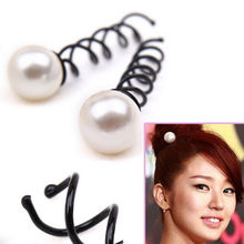 3 PCS Women Girls Pearl Spiral Spin Screw Bobby Hair Pins Hair Clips Lady Twist Barrette Accessory Hair Accessories(China (Mainland))