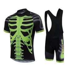 2016 New X-LONG Mens Cycling Bicycle Jersey Mountain Road Short Sleeve Shirt Bike Clothing Skeleton