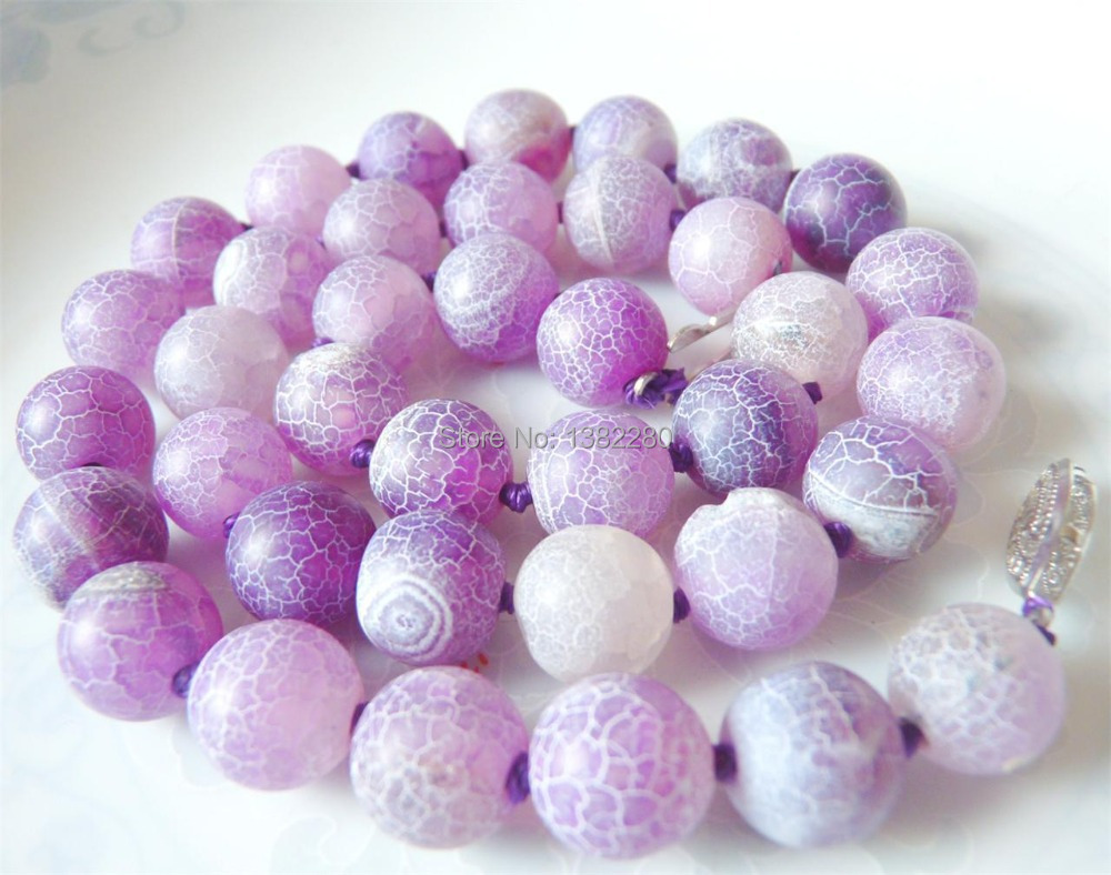 Free shipping Fashion New 2015 ! Style 10mm light purple Grind arenaceous agate round starfish necklace JT6495(China (Mainland))