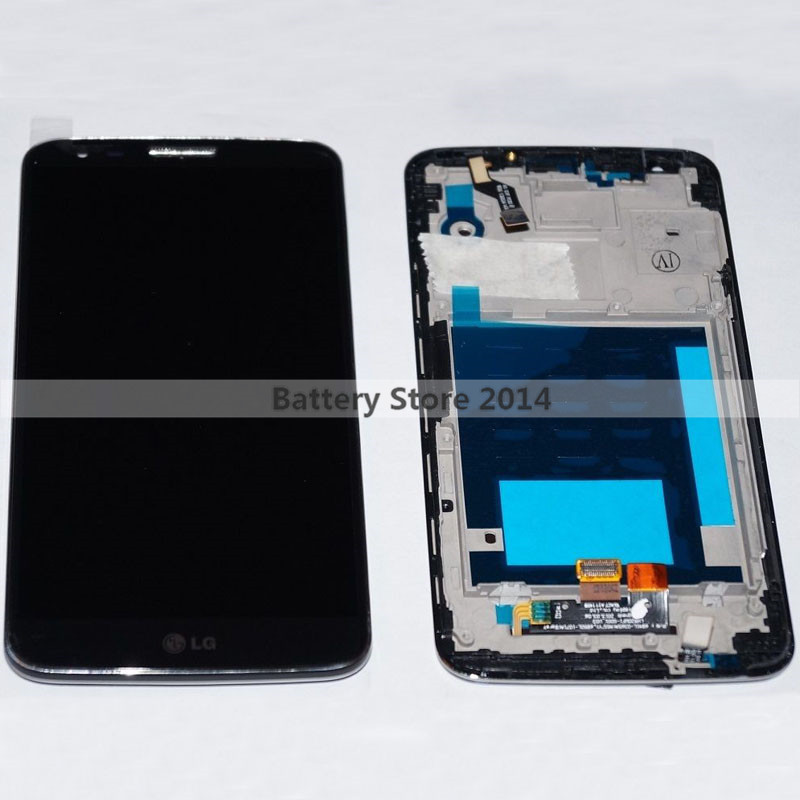 New Original For LG Optimus G2 D802 LCD Display Panel Screen + Digitizer Touch Sreen Glass Assembly With Frame and LOGO(China (Mainland))