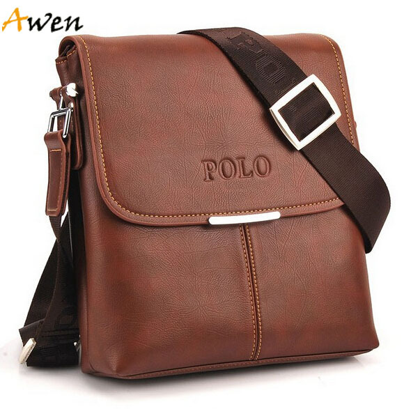 AWEN hot sell promotion soft leather messenger bag for men,classic design men's travel bags,casual mens leather cross body bag(China (Mainland))
