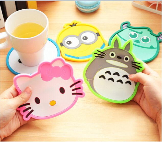 Creative ceramic cup mat Insulation Mat Bowl of silicone table MATS(China (Mainland))