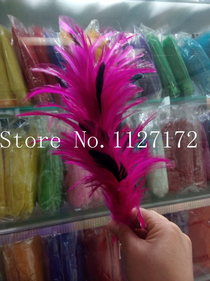 Hot Pink 10pcs/lot Feather Sticks Rooster feathers, Feather headwear with wires,Feather ornament Feather Flower for head pieces(China (Mainland))