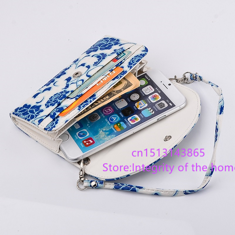 Wallet crossbody mobile phone bags For Oppo Find Way U7015 / Find 5 Mini R827T R827 / Find 5 Midnight cover case Pouch Holster(China (Mainland))