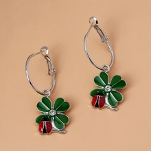 New Fashion Jewelry Vintage Earring 10pair Insect Enamel Clover Earring For Women DIY  Fashion Stud Earrings S6454(China (Mainland))