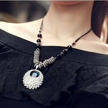 2015 New arrival rhinestone necklaces pendants for women lady vintage necklace jewelry(China (Mainland))