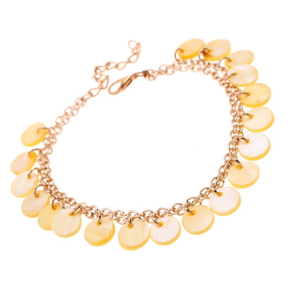 1pc Unique Beautiful gilded shell Anklet Bracelet Foot Jewelry pulseras tobilleras anklets Chain on foot(China (Mainland))
