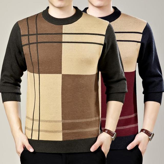 Высокое качество кашемировые свитера мужчины 2016 зимние Новый стиль толстые мужская ...
