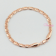 18cm-23cm Accessories For Women Mens 4.5mm 18K Rose Gold Filled Bracelet Link Snail Chain Rose Jewelry Wholesale Retails(China (Mainland))