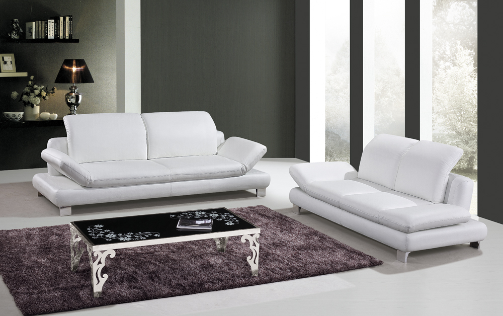 Cow genuine leather sofa set living room furniture couch for Leather furniture for small living room