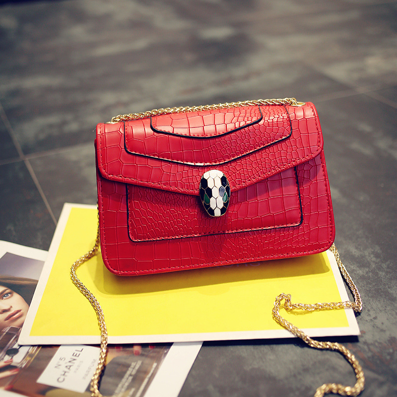 Women Crocodile Leather Pattern Bag Wallet Clutch Purse Alligator Stylish Chain Women Messenger Bag female small Shoulder Bags(China (Mainland))