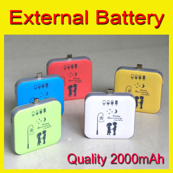 New 2000mAh Power Bank / External Backup Battery Pack Charger for SAMSUNG Galaxy S3 S4, for HTC, for LG for Motorola(China (Mainland))
