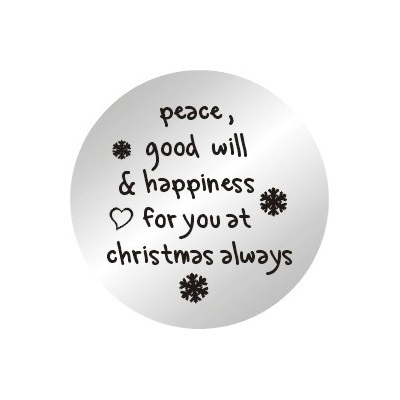 10pcs/lot 2014 New 22mm Happiness For You At Christmas Stainless Steel Plates Floating Charms For 30MM Glass Lockets(China (Mainland))