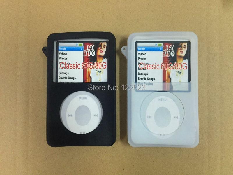 iPod Classic iPod Video 5th gen 30GB 60GB 80GB Silicone Case Protective Case in White & Black(China (Mainland))