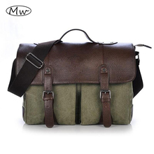 Buy 2016 Retro Men Briefcase Business Shoulder Bag Canvas Messenger Bags Man Handbag Tote Bag Casual Travel Bag Sac Hommes for $27.83 in AliExpress store