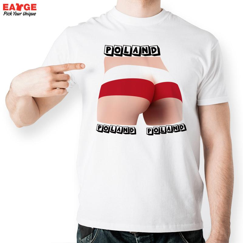 [MASCUBE]Men Funny Cool Poland Flag Top T Shirt Creative Football Game T-shirt Women Printed Tee Tops Accept OEM Wholesale(China (Mainland))