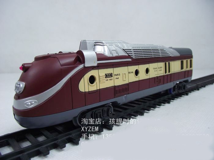 Large-scale simulation of electric toy locomotive diesel locomotive electric locomotive model sound and light rail(China (Mainland))