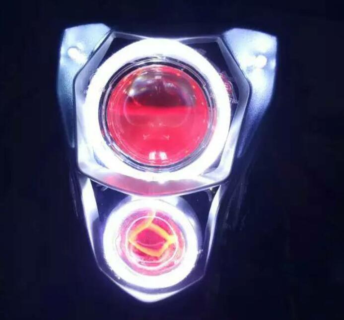 universal 12w Motorcycle car electric car U8 LED headlights fog devil eye brightness laser cannon spotlights the meteor(China (Mainland))