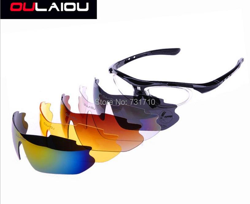 New 2014 Fashion sunglasses Bicycle Bike Cycling eyewear UVA UVB Sports Sun Glasses 5 Lens BLUE free shipping<br><br>Aliexpress