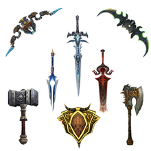 Buy 80-180cm 1:1 WOW Arms 3D Paper Model DIY Craft Handheld Puzzles Toy World War Photo Paper Sword Doomhammer Christmas Gift for $9.99 in AliExpress store