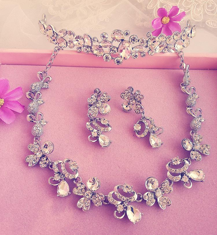 Wedding Jewellery Gift Sets : Sets, Rhinestone Wedding Accessory Bridal Jewelry christmas gift ...