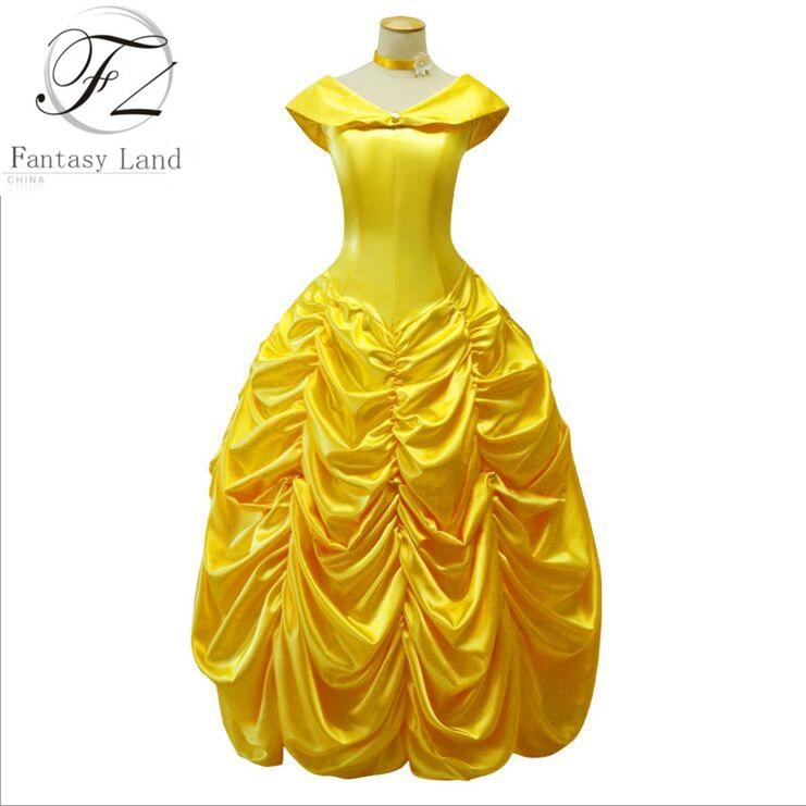 Adulte princesse fantaisie robe promotion achetez des adulte princesse fantaisie robe - Robe la belle et la bete adulte ...