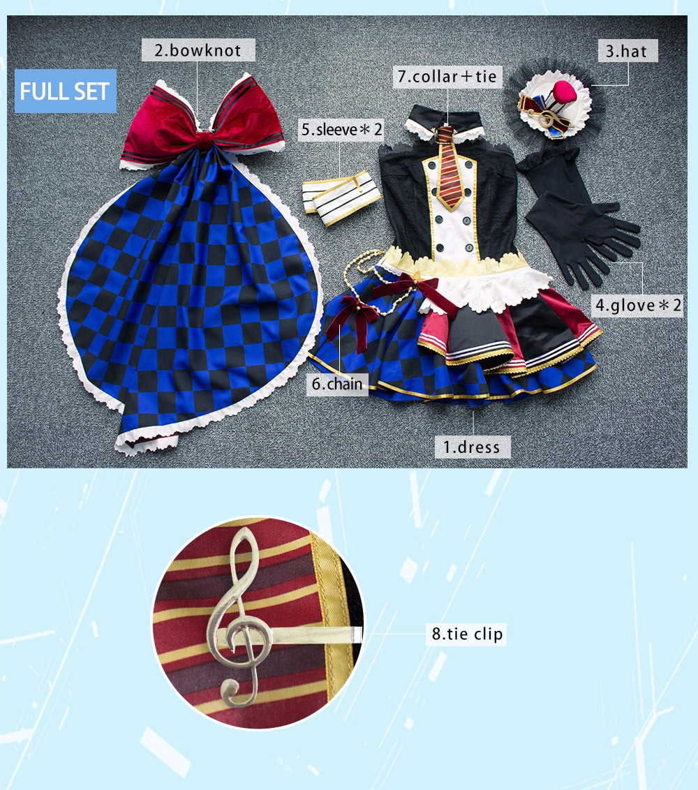 Maki Nishikino Cosplay Love Live! School Idol Project Awakening Maid Uwowo Costume With Hat and Accessories