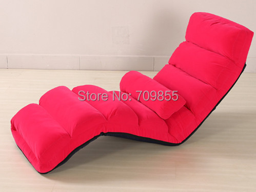Floor Folding Purple Upholstered Chaise Lounge Living Room Furniture Foldable Legless Nap Sofa Modern Lazy Day