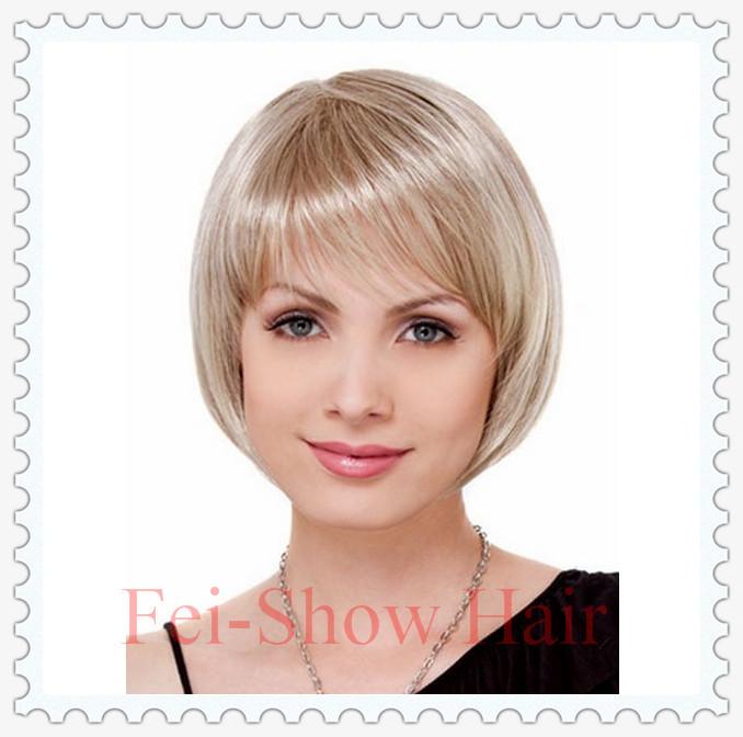 Synthetic Heat Resistant Fiber Lace Front Short Golden Wavy Hair Wigs(0089) for European African Women Ladies Salon Wigs<br><br>Aliexpress