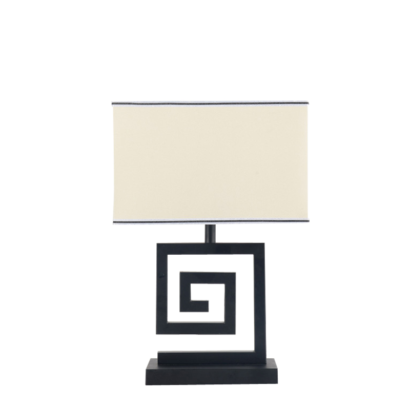 Chinese Modern Table Light Bedroom Living Room Bedside Lamp Black Iron White Lampshade Fabric Home Lighting Fixture E27 110-220V(China (Mainland))