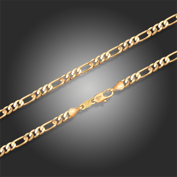 """18k Yellow or White Gold Plated Figaro Chain Long Necklace 60cm 24"""" width 4mm Unisex Fashion Men Women Hiphop Jewelry(China (Mainland))"""