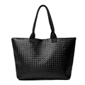 Fashion Woven Design Women Handbag Women PU Leather Shoulder Bags Ladies Dimond Lattice Messenger Bags Large