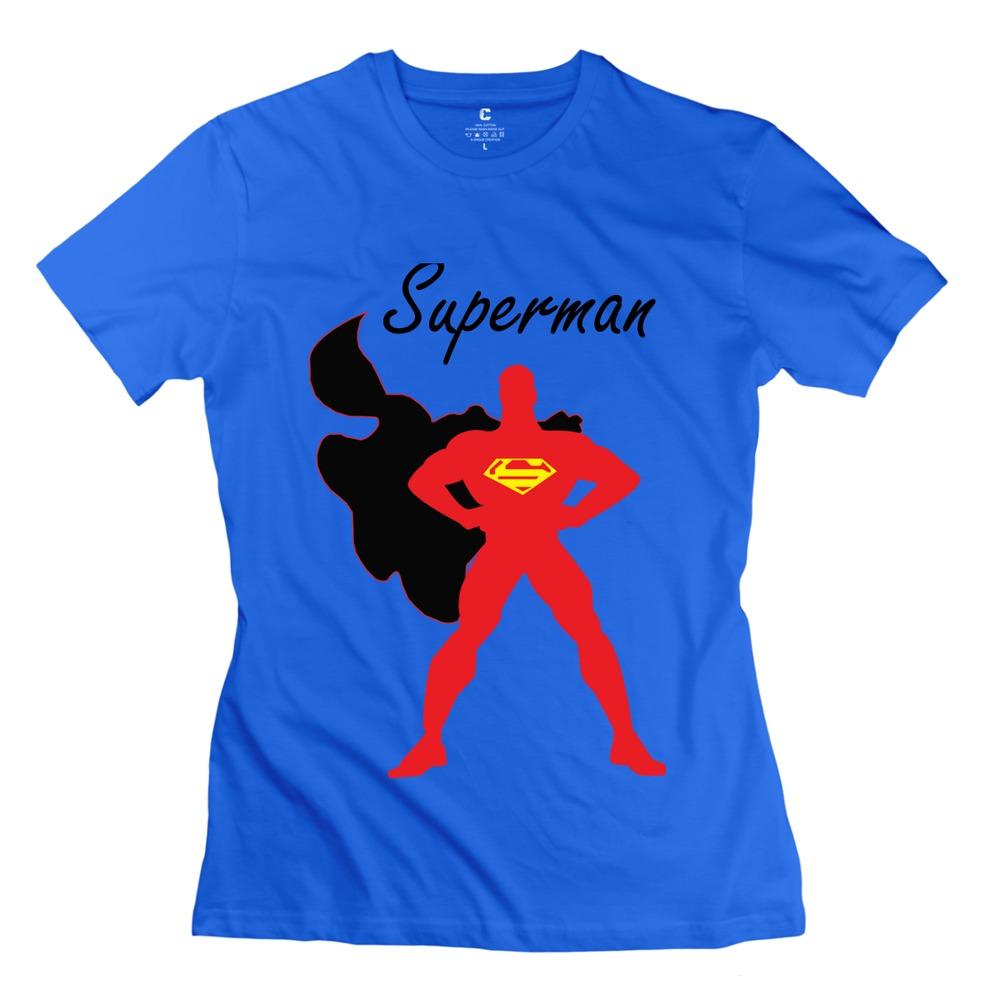 2015 cool superman women 39 s t shirt 100 cotton drop for Dropship t shirt business
