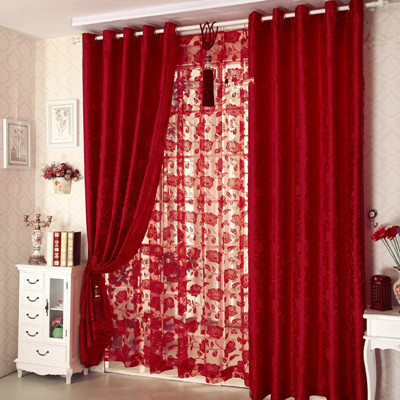 Chambre rideau rouge ~ Design de maison