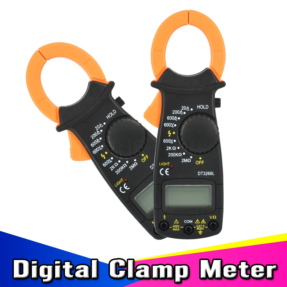 Portable Meter Multimeter Digital Clamp Meter Electronic LCD AMP Tester Clip-on Table AC/DC Current Meter(China (Mainland))