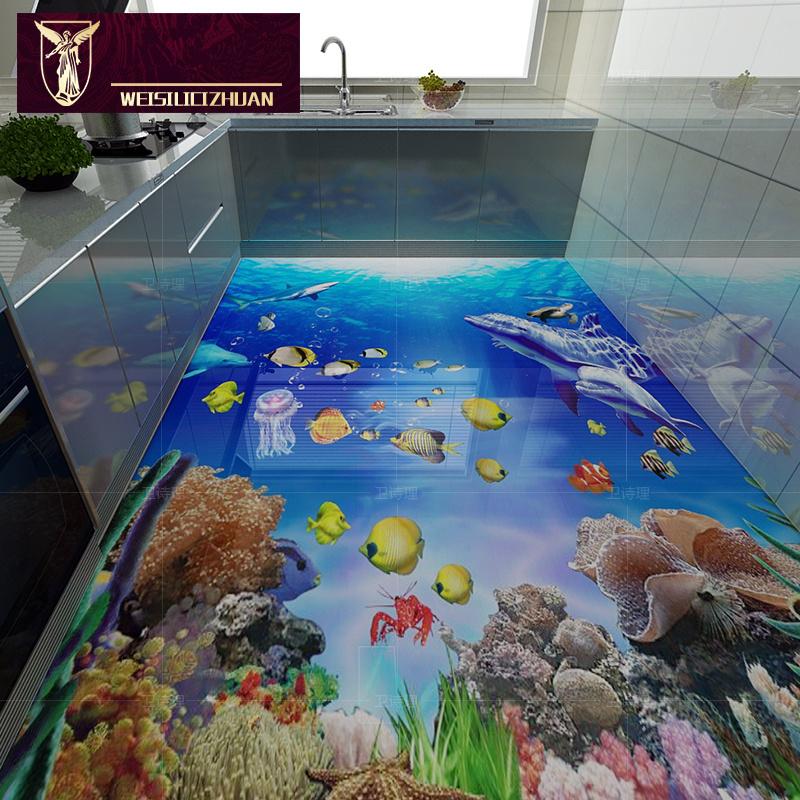 Neue marine serie 3d bodenfliese 3d keramikfliesen beste qualit t 8d poliert 3d badezimmer - 3d bodenfliesen ...